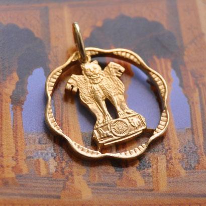 Münzsägewerk Katrin Thull   Indien - Löwenstatue