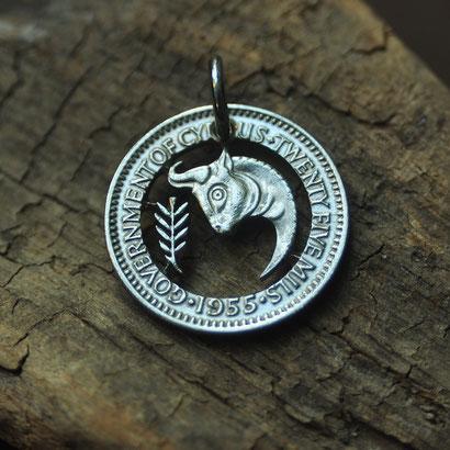 Münzsägewerk Katrin Thull | Zypern - Stier mit Olivenzweig