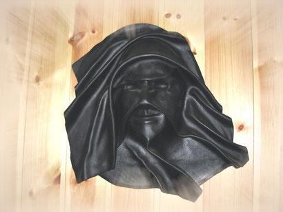 complemento d'arredo maschera in pelle