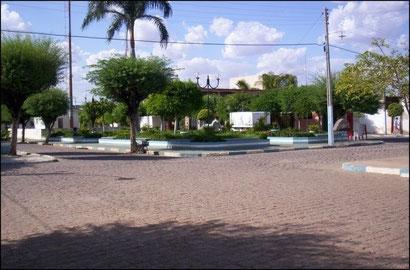 Praça central de Lagoa