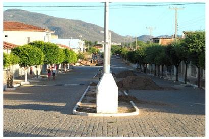 A rua onde eu morava.