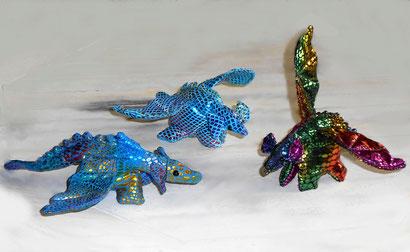 Drache, Flugdino, Dinosaurier mit Flügen