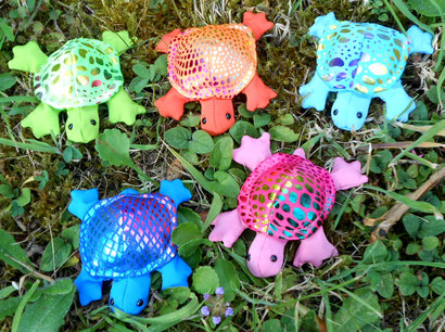 Turtle mini metalic blau