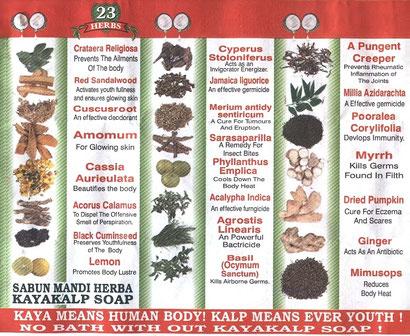 die 23 wertvollen Kräuter mit dem Kokosöl haben wohltuende Eigenschaften ;o)