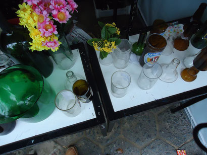 Reciclando Vidro. / Janine, Dalila, Iuri, Stefanie, Yago, Ricardo, Jorge Anderson.