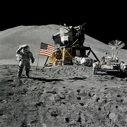 Conquista Espacial: O Homem na Lua. Fonte: NASA Great Images in Nasa Collection