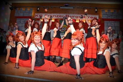 """Schowtanzgruppe """"Burgelfen"""" im Jahr 2018"""