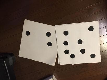 自作のドッツカード
