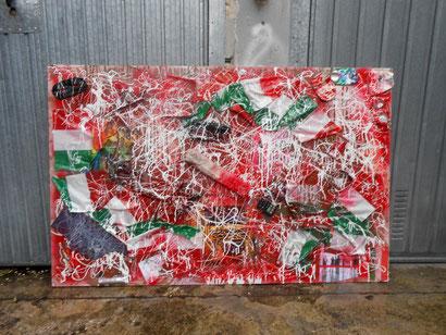 Il lavoro nobilita l'italia 2013 cm 116x180 (a colatura ed asciugatura terminata)in poche parole lavoro definitivamente ultimato.
