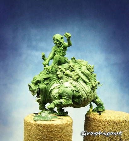 Mierci Miniatures, Graphigaut, sculpture, 32mm, Peb and crazy pig