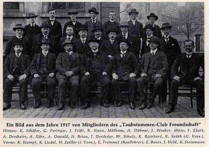 Mitglieder aus dem Jahre 1917