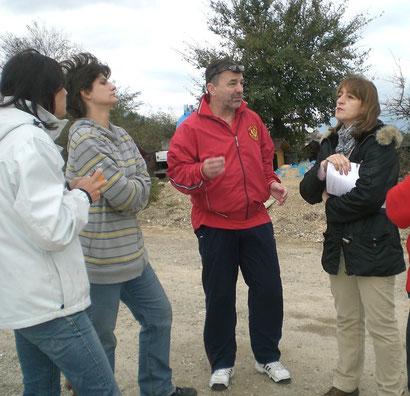 Präsidentin des Tierschutzvereins, Direktor des Asyl, Nina und Sarah