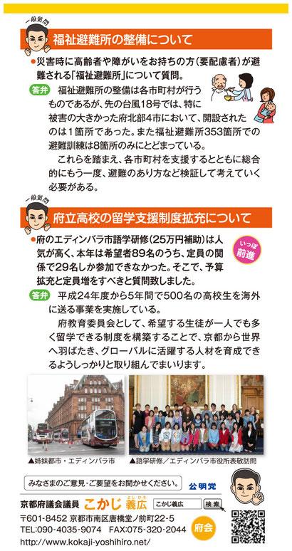 2014年 新春号/ハガキ・裏面