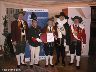 Karl Harb (Volders), Anton Kometer (Schwaz), Karl Wurzer (Antragsteller), Reinhard Spötl (Hall), Romed Stemberger (Thaur)