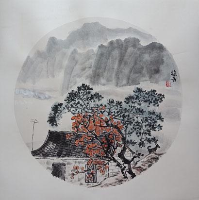 Landschaft 1 (40x40 cm)