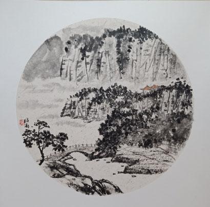 Landschaft 2 (40x40 cm)