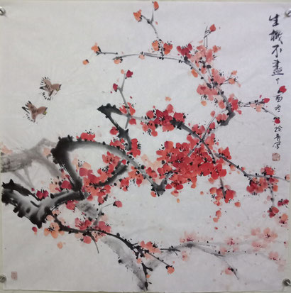 Pflaumenblüte (68x68 cm)