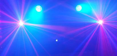 Floorspots und Stinger Star mit Laser