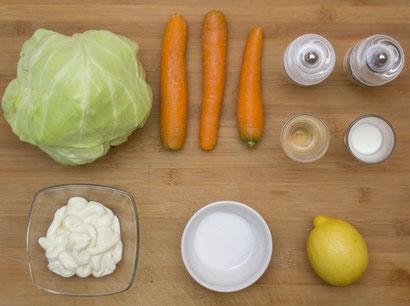 Coleslaw amerikanischer Krautsalat USA original rezept selber machen pulled pork beilage bbq grill