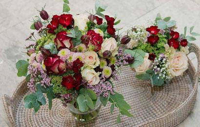 Hochzeitsfloristik Wien Blumendekoration für Tisch