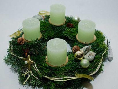 Adventskranz hellgrün