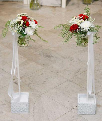 Blumendekoration Ständer Hochzeit Hochzeitsfloristik Wien