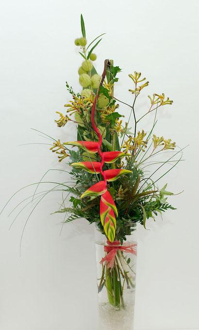 Blumenstrauß mit Heliconia