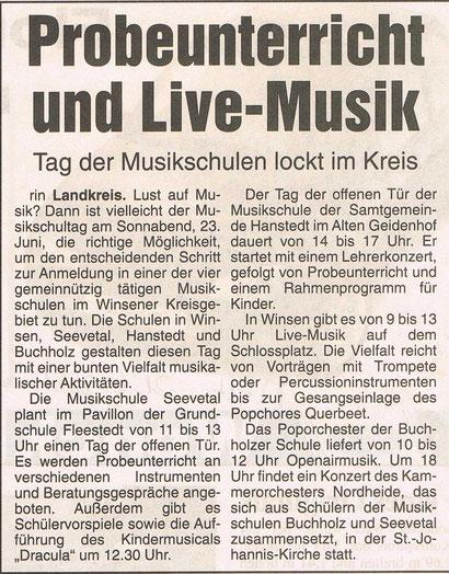 Wochenblatt Marsch & Heide 21.06.2001
