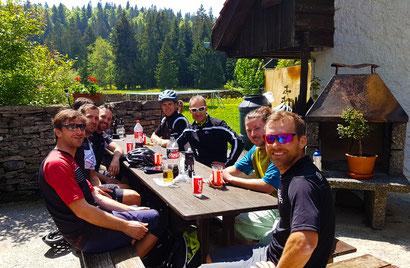 Mittagspause auf der Biketour