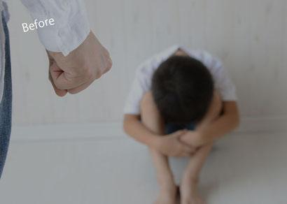 抑えられない怒りから幼い子供を殴ってしまう父親