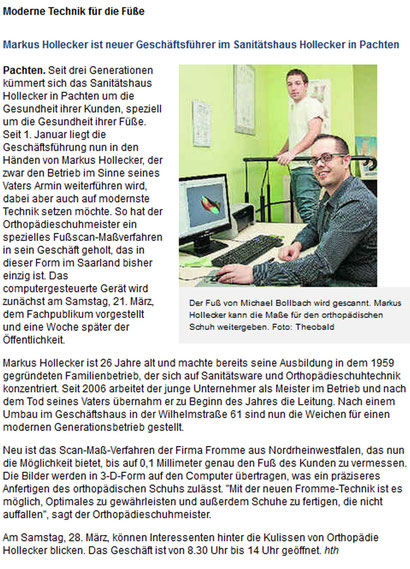 Saarbrücker Zeitung März 2009