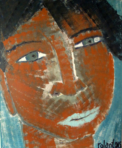FACE 2015  acrylic  sand  canvas  160 x 130 cm