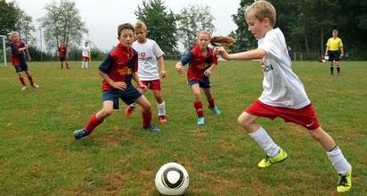Die EII-Junioren freuen sich über ihren ersten Saisontreffer  /Foto: M. Schäfer