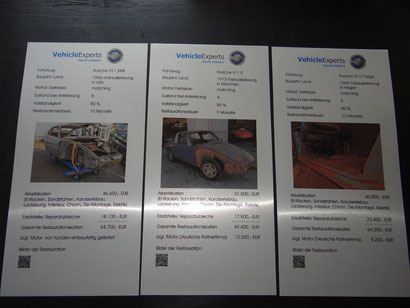 """Messetafeln für die FA """"Vehicle Experts Restauration KFT"""" auf gebürstetem Aluminium"""
