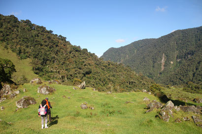 Nationalpark Los Nevados Lagune Otun Kolumbien Trekking Wandern