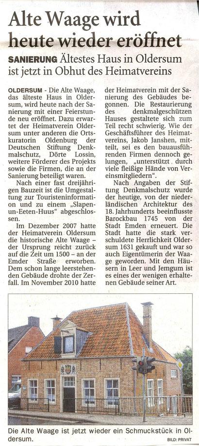 Ostfriesen-Zeitung v. 3.08.2013