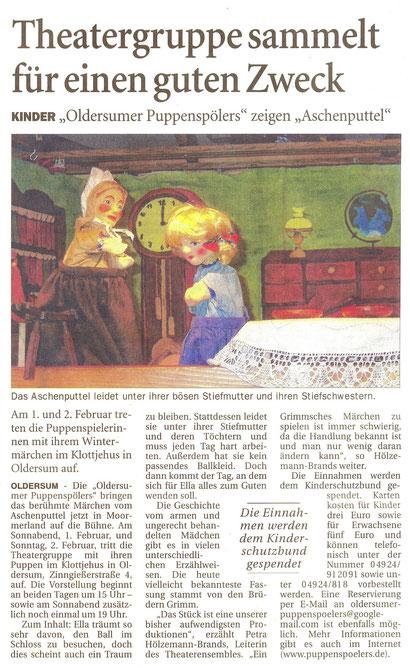 Ostfriesen-Zeitung v. 16.01.2014