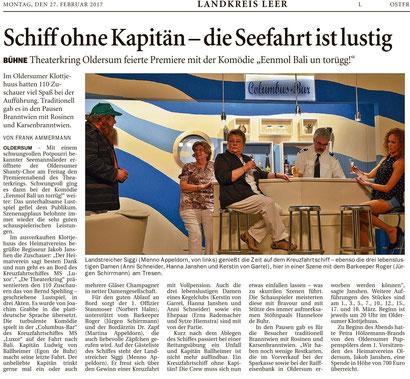 Ostfriesen-Zeitung v. 27.02.2017