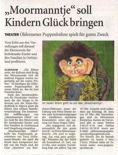 Ostfriesen-Zeitung vom 4.06.2011