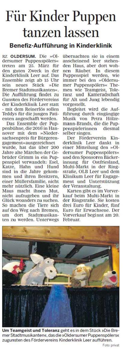 Rheiderländer Zeitung v. 16.02.2017