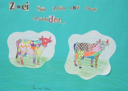 Lea Eicke und Rieka Ackermann: Bunte Kühe