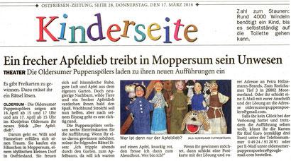 Ostfriesen-Zeitung v. 17.04.2016