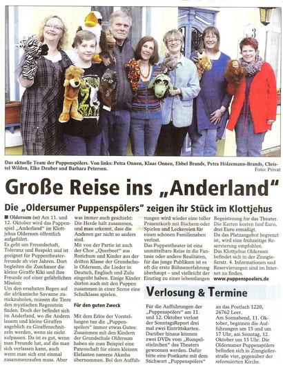 SonntagsReport v. 21.09.2014