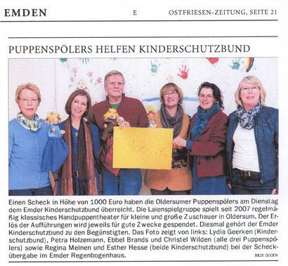 Ostfriesen-Zeitung, Ausgabe Emden v. 6.03.2014