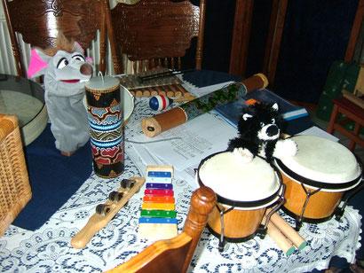 Das Oldersumer-Puppenspölers-Kinderorchester hat geprobt!