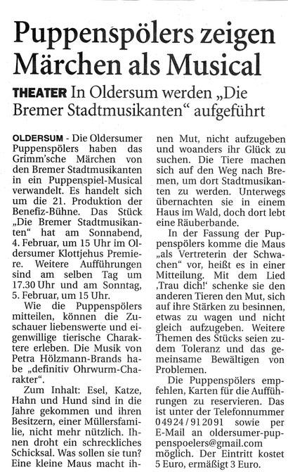 Ostfriesen-Zeitung v 31.12.2016
