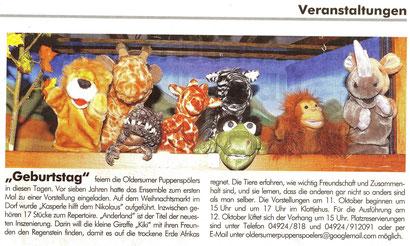 """""""Der Wecker"""" v. 14.09.2014"""