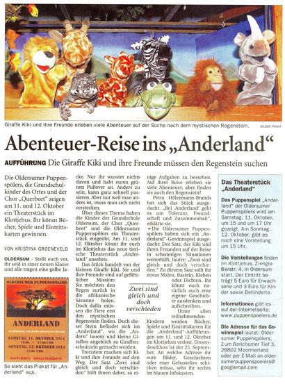Ostfriesen-Zeitung v. 18.09.2014