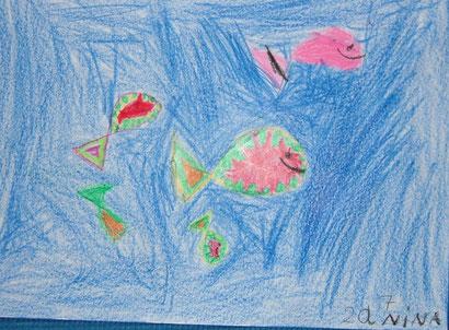 Nina Huismann (7 Jahre): Fischschwarm
