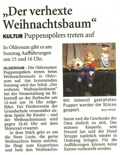 Odstfriesen-Zeitung v. 5.12.2014